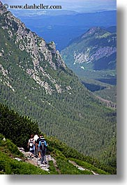 activities, europe, hikers, hiking, mountains, nature, paths, poland, vertical, photograph