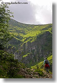 activities, europe, hikers, hiking, mountains, nature, paths, people, poland, vertical, photograph