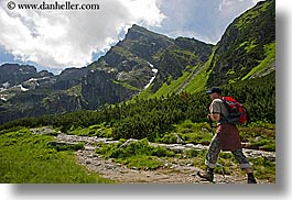 activities, europe, hikers, hiking, horizontal, men, mountains, nature, paths, people, poland, photograph