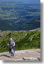 europe, hikers, hiking, nuns, poland, vertical, photograph