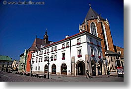 buildings, colorful, europe, horizontal, krakow, poland, photograph