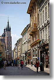 buildings, europe, krakow, poland, streets, vertical, photograph