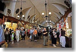 buildings, europe, halls, horizontal, krakow, poland, vendors, photograph