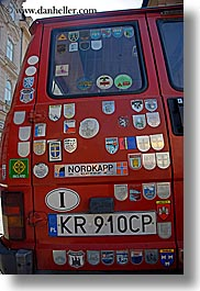 cars, europe, krakow, poland, stickers, transportation, vertical, photograph