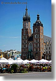basilica, basilica virgin mary, christian, churches, europe, krakow, mary, poland, religious, vertical, virgin, photograph