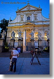 churches, couples, europe, krakow, poland, st peter paul church, vertical, photograph