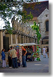 apostles, churches, europe, krakow, poland, st peter paul church, streets, vendors, vertical, photograph
