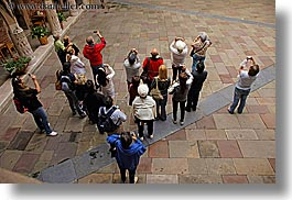 downview, europe, horizontal, jagiellonian university, krakow, looking, people, perspective, poland, photograph