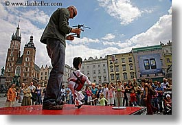 arts, bald, dolls, elvis, europe, horizontal, krakow, men, people, poland, puppeteers, puppets, photograph