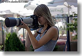 artists, blonds, cameras, europe, horizontal, krakow, lens, long, people, photographers, poland, womens, photograph