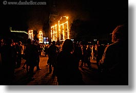 abstracts, arts, burning, crowds, europe, fire, horizontal, krakow, nite, people, performance, poland, windows, photograph