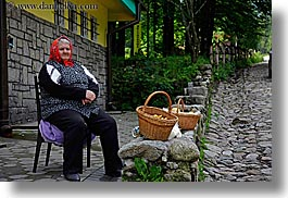 bread, europe, horizontal, old, people, poland, polish, sellng, womens, photograph