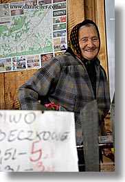 europe, old, people, poland, smiling, vertical, womens, zakopane, photograph