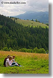 europe, girls, pasture, poland, scenics, vertical, zakopane, photograph