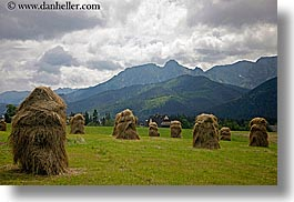 europe, hay, horizontal, poland, scenics, stacks, zakopane, photograph