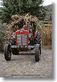 europe, farmers, people, portugal, tractor, vertical, western europe, photograph