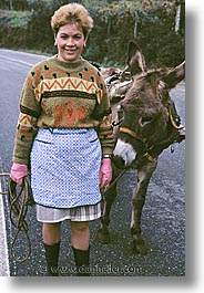 donkeys, europe, people, portugal, vertical, western europe, womens, photograph