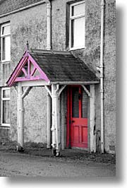 color composite, color/bw composite, england, entryway, europe, scotland, united kingdom, vertical, photograph
