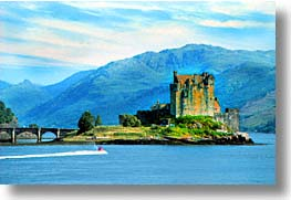 castles, donan, eilean, england, europe, horizontal, scotland, united kingdom, photograph