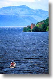 castles, england, europe, scotland, united kingdom, urquhart, vertical, photograph