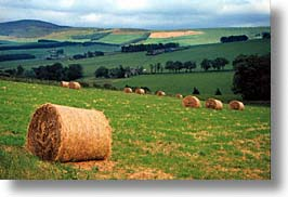 bales, england, europe, hay, horizontal, scenics, scotland, united kingdom, photograph