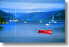 boats, england, europe, horizontal, red, scotland, skye, united kingdom, photograph