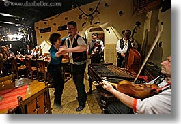 artists, couples, dancing, europe, gypsy music, horizontal, men, music, musicians, people, slovakia, photograph