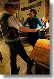 artists, couples, dancing, europe, gypsy music, men, motion blur, music, musicians, people, slovakia, vertical, womens, photograph