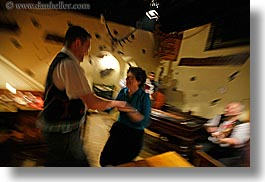 artists, couples, dancing, europe, gypsy music, horizontal, men, motion blur, music, musicians, people, slovakia, womens, photograph