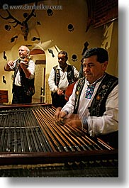 artists, dulcimer, europe, gypsy music, hammered, men, music, musicians, people, players, slovakia, vertical, photograph