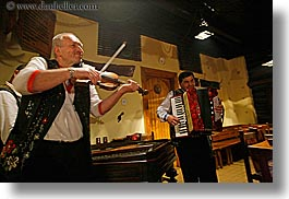 accordion, artists, europe, gypsy music, horizontal, men, music, musicians, people, players, slovakia, violins, photograph