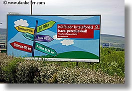 billboards, directional, europe, horizontal, signs, slovakia, photograph
