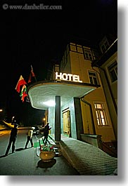 europe, hotels, into, nite, people, slovakia, vertical, walking, photograph