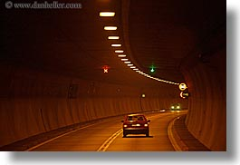 abstracts, cars, europe, horizontal, light streaks, lights, slovakia, streets, transportation, tunnel, photograph