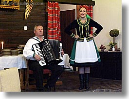 accordion, artists, clothes, europe, hats, horizontal, instruments, music, musicians, people, players, singing, slovakia, slovakian dance, womens, photograph