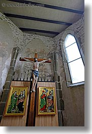 altar, crosses, europe, jesus, slovakia, spis castle, vertical, photograph