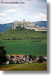 catsle, europe, over, slovakia, spis castle, towns, vertical, photograph