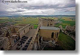 castles, clouds, down, europe, horizontal, materials, nature, sky, slovakia, spis castle, stones, views, photograph