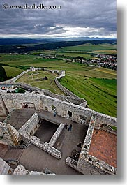 castles, clouds, down, europe, materials, nature, sky, slovakia, spis castle, stones, vertical, views, photograph
