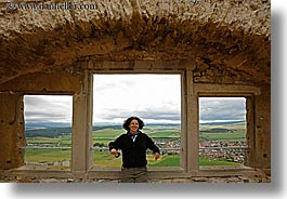 europe, horizontal, lori, materials, scenics, slovakia, spis castle, stones, towns, windows, photograph