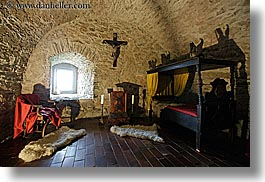 bedrooms, europe, horizontal, materials, medieval, slovakia, spis castle, stones, photograph
