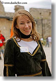 europe, guides, people, slovakia, spis castle, tours, vertical, womens, photograph