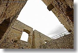 architectural ruins, europe, horizontal, materials, slovakia, spis castle, stones, upview, photograph