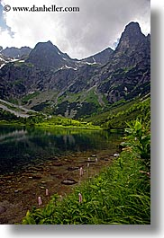 europe, lakes, mountains, slovakia, vertical, water, photograph