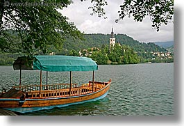 bled, boats, covered, europe, horizontal, lakes, slovenia, photograph