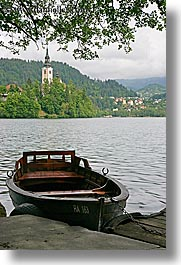 bled, boats, europe, lakes, slovenia, uncovered, vertical, photograph
