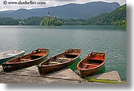 bled, boats, europe, horizontal, lakes, slovenia, uncovered, photograph