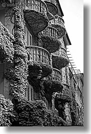 black and white, bled, europe, grand, hotel toplice, hotels, ivy, slovenia, toplice, vertical, photograph