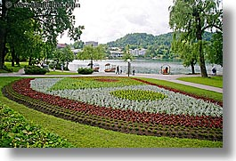 bled, europe, flowers, gardens, horizontal, slovenia, photograph