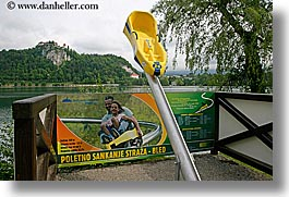 advertisement, bled, europe, horizontal, rides, signs, slovenia, photograph
